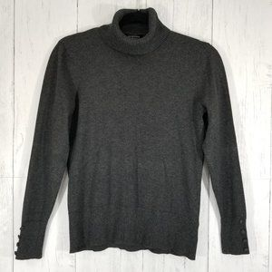 Spense Knits | Gray Long Sleeve Turtleneck Sweater